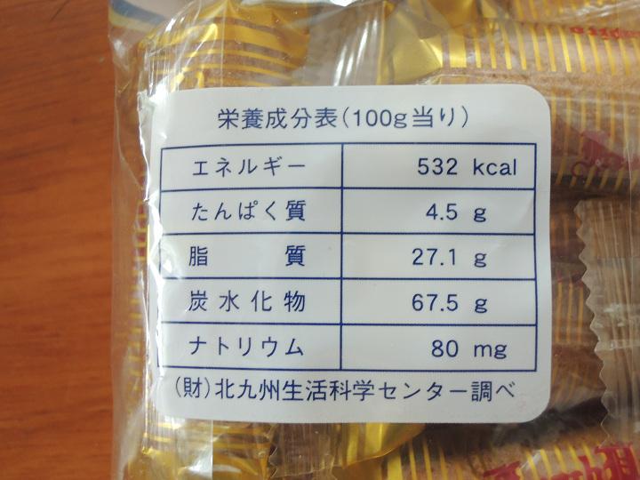 フレンチパピロ 七尾製菓 カロリー
