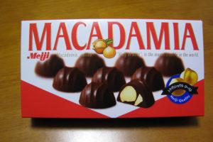 明治 マカダミアチョコレート パッケージ