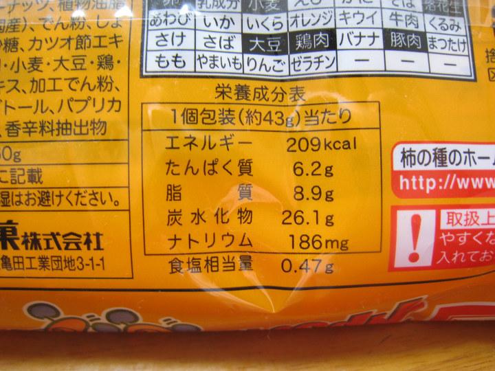 柿の種 亀田製菓 カロリー