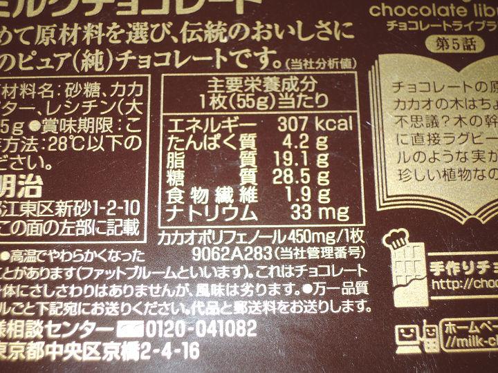 明治 ミルクチョコレート カロリー