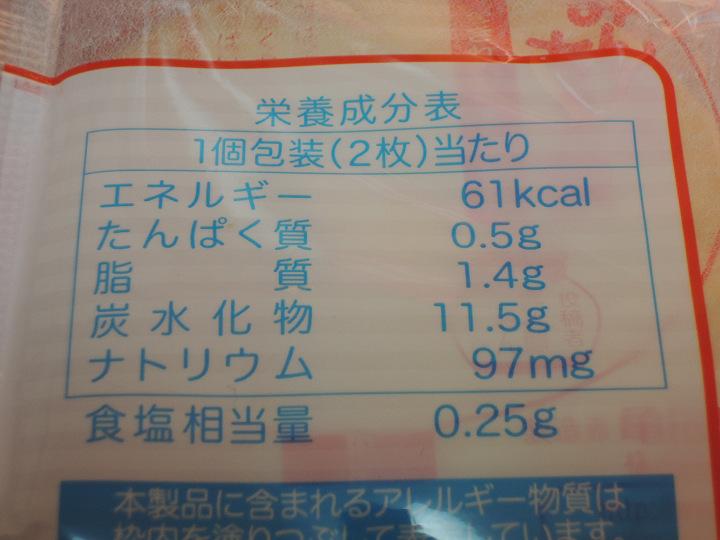 ぽたぽた焼  亀田製菓 カロリー