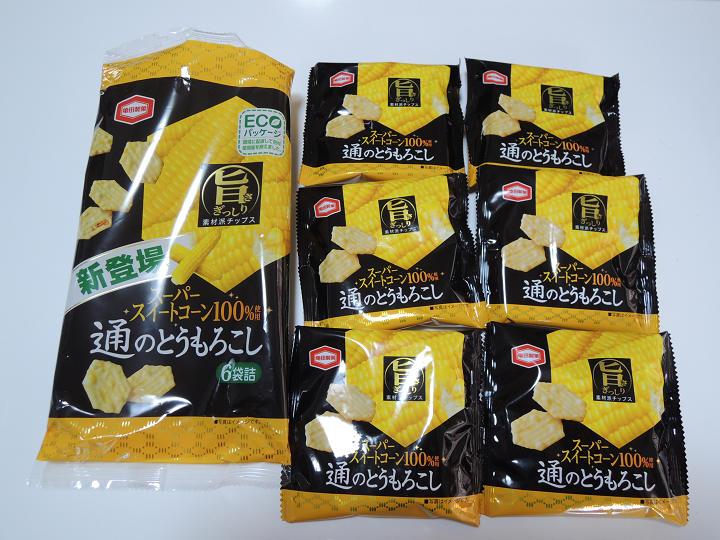 通のとうもろこし 亀田製菓 6パック