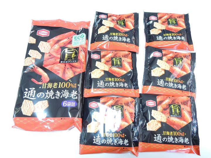 通の焼き海老 亀田製菓 6パック